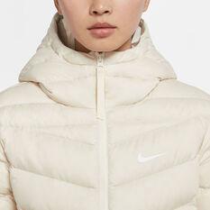 Nike Womens Lightweight Down Windrunner, White, rebel_hi-res