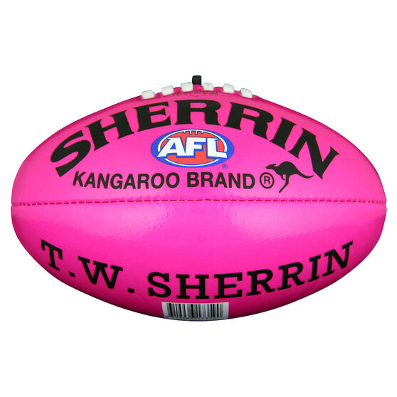 Sherrin Soft Touch Youth Australian Rules Ball  Pink 10in, , rebel_hi-res