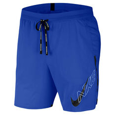 Nike Mens Air Flash Flex Stride 7in Running Shorts Blue M, Blue, rebel_hi-res