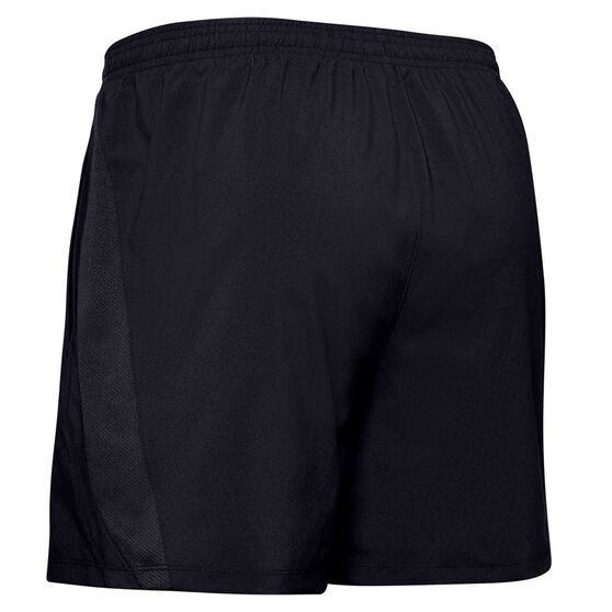 Under Armour Mens Launch 5in Woven Shorts, Black, rebel_hi-res