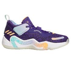 adidas D.O.N. Issue 3 Basketball Shoes Purple US 7, Purple, rebel_hi-res