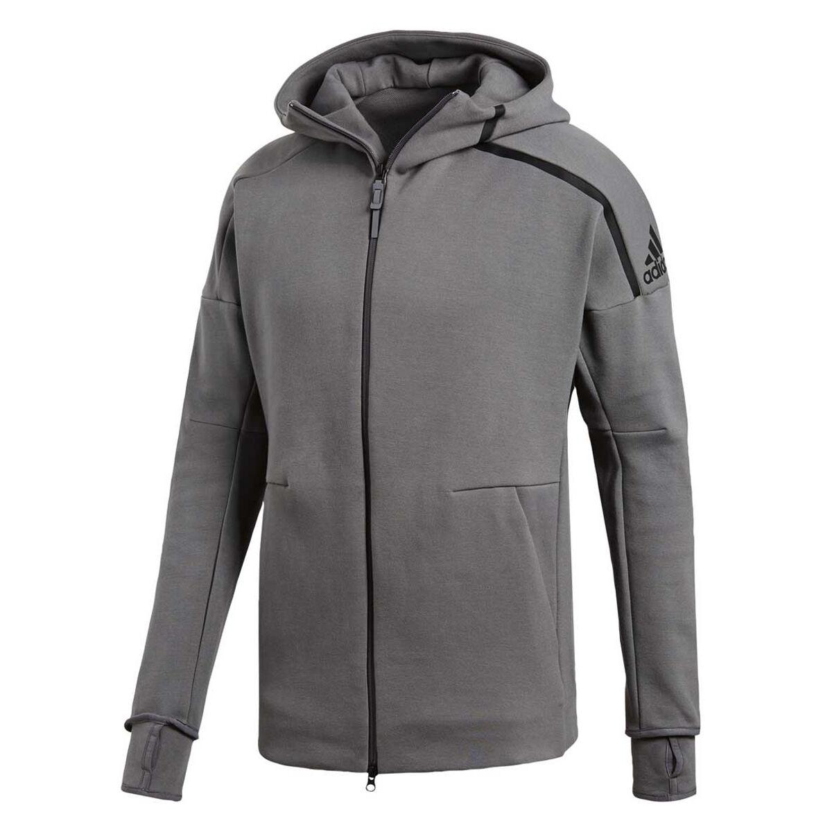 b5d5cb21f3fe ... discount adidas mens z.n.e 2 hoodie grey s grey rebelhi res 7214f ced0f