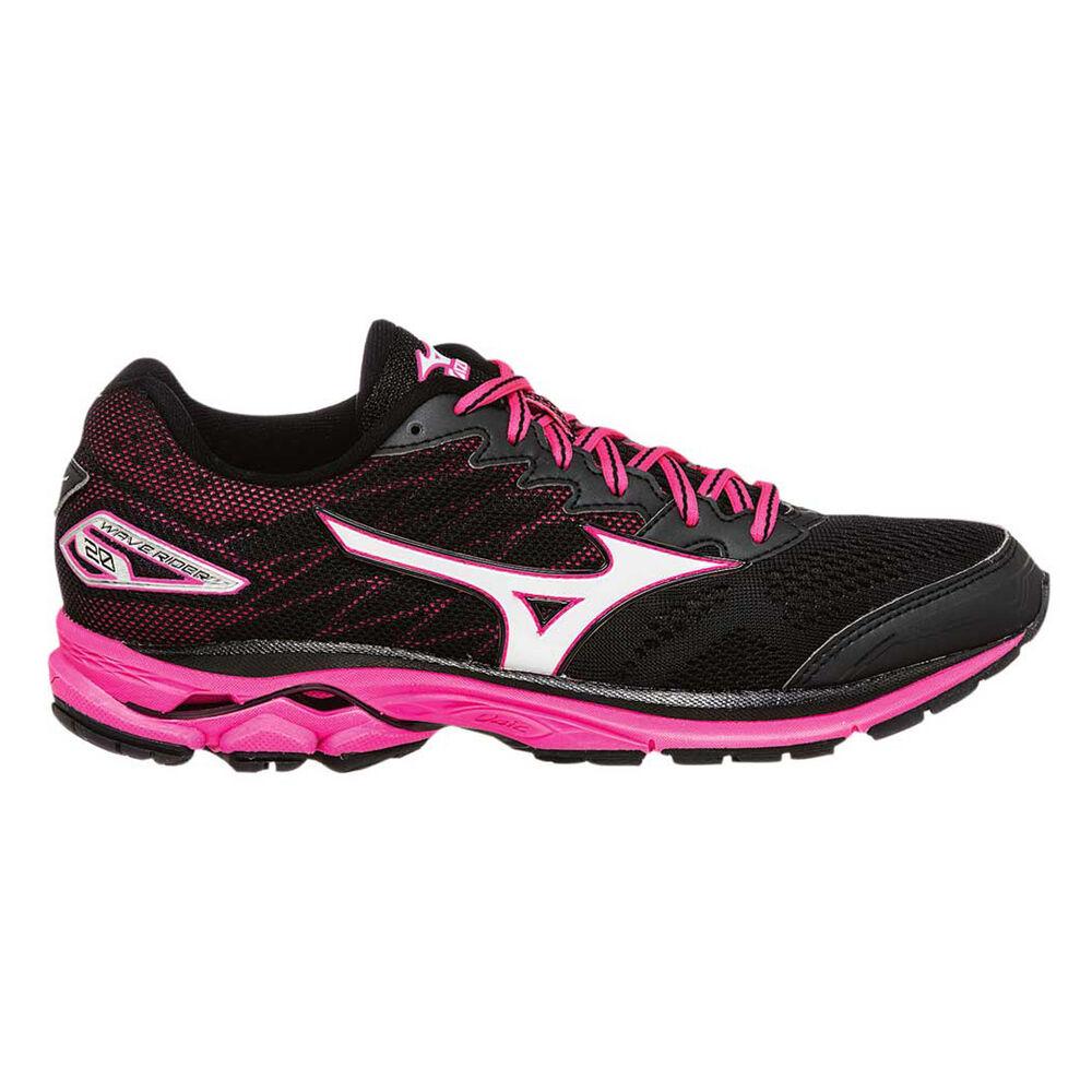 4db82e9a1200 Mizuno Wave Rider 20 Womens Running Shoes Black / Pink US 11, Black / Pink