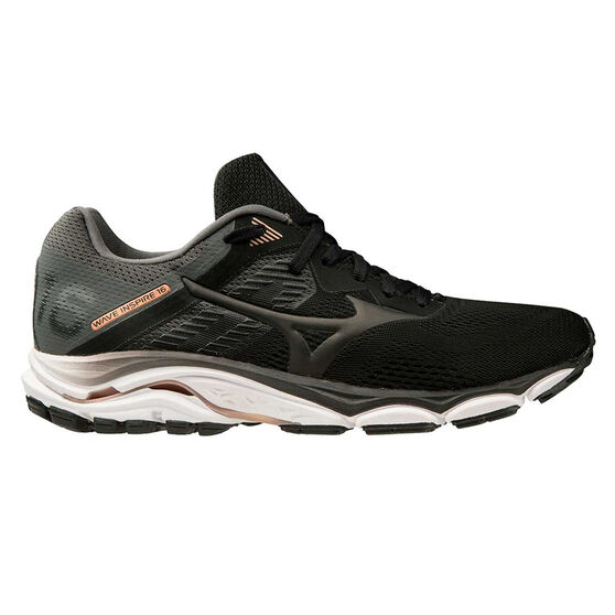 Mizuno Wave Inspire 16 D Womens Running Shoes, Black / White, rebel_hi-res