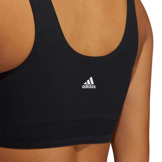adidas Womens Cozy Yoga Sports Bra, Black, rebel_hi-res