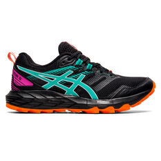 Asics GEL Sonoma 6 Womens Trail Running Shoes Black/Blue US 6, Black/Blue, rebel_hi-res