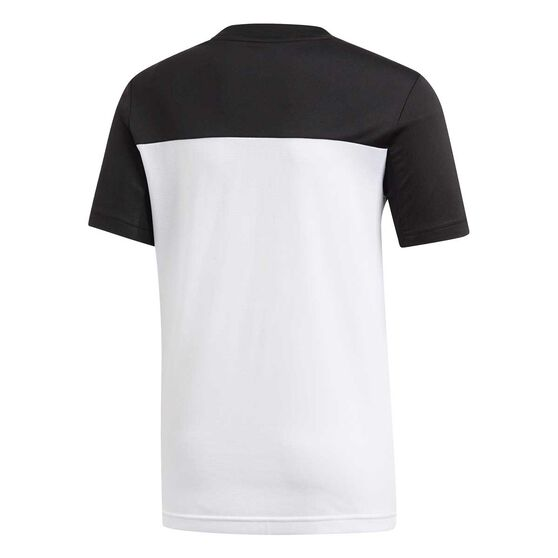 adidas Boys Equip Training Tee, White / Black, rebel_hi-res