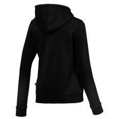 Puma Womens Essentials Fleece Logo Hoodie Black XS, Black, rebel_hi-res
