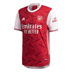 Arsenal FC 2020/21 Mens Authentic Home Jersey Red XS, Red, rebel_hi-res