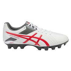 Asics Lethal Speed RS Mens Football Boots White / Red US 7 Adult, White / Red, rebel_hi-res