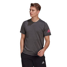 Adidas Mens Freelift Sport Ultimate HeatherTee Black XS, Black, rebel_hi-res
