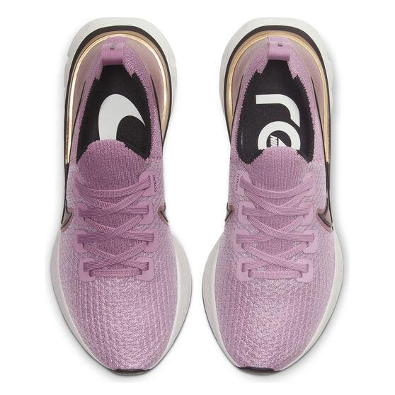 Nike React Infinity Run Flyknit Womens Running Shoes, Purple / Black, rebel_hi-res