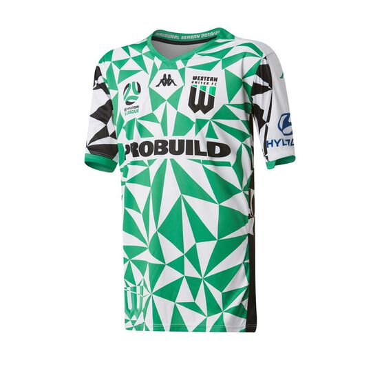 Western United 2019/20 Kids Away Jersey, Green / White, rebel_hi-res