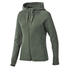 Ell & Voo Womens Helen Full Zip Training Hoodie Green XXS, Green, rebel_hi-res