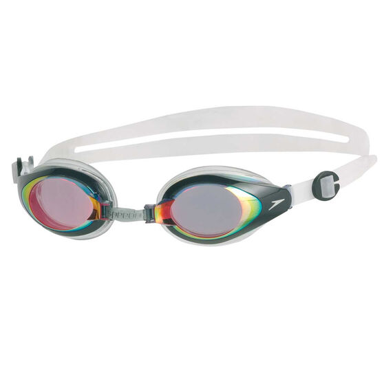 Speedo Mariner Red Mirror Swim Goggles, , rebel_hi-res