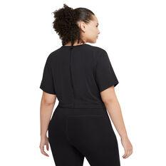 Nike Womens Dri-FIT One Luxe Twist Tee Black XS, Black, rebel_hi-res