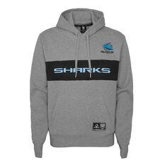 Cronulla-Sutherland Sharks 2021 Kids Hoodie Grey S, Grey, rebel_hi-res
