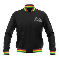 Penrith Panthers 2019 Mens Club Varsity Jacket Black S, Black, rebel_hi-res