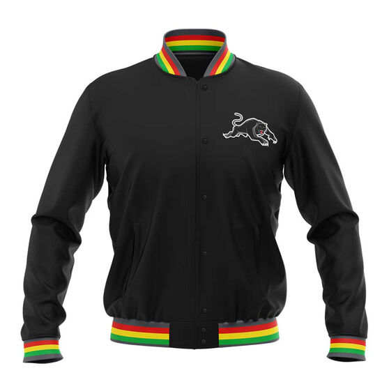 Penrith Panthers 2019 Mens Club Varsity Jacket, Black, rebel_hi-res