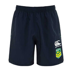 Kangaroos 2019 Mens Gym Shorts Navy S, Navy, rebel_hi-res