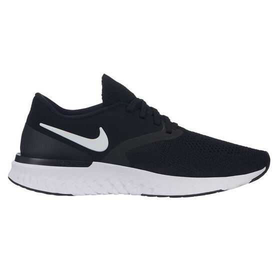 Nike Odyssey React Flyknit 2 Womens Running Shoes, Black / White, rebel_hi-res