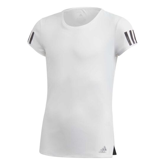 adidas Girls Club Tee, White / Silver, rebel_hi-res