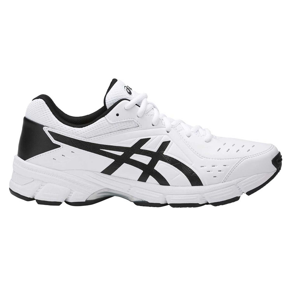 Asics Gel 195TR Leather 2E Mens Training Shoes Black Grey US 8