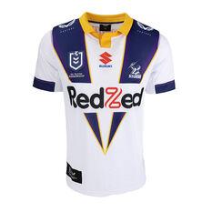 Melbourne Storm 2021 Mens Heritage Jersey White XS, White, rebel_hi-res