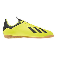 adidas X Tango 18.4 Junior Indoor Soccer Shoes Yellow / Black US 11, Yellow / Black, rebel_hi-res