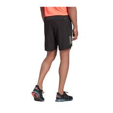 adidas Mens Own The Run 2 in 1 Running Shorts, Black, rebel_hi-res