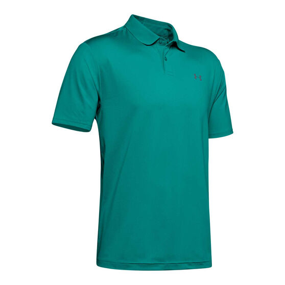 Under Armour Mens Performance 2.0 Golf Polo Teal S, Teal, rebel_hi-res