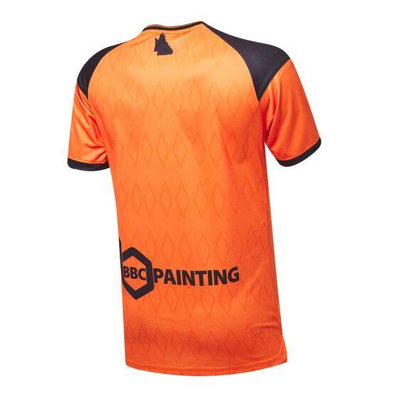 Brisbane Roar FC 2020/21 Mens Home Jersey, Orange, rebel_hi-res