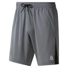 3a536e378 Reebok Mens Elements Woven Shorts Grey S