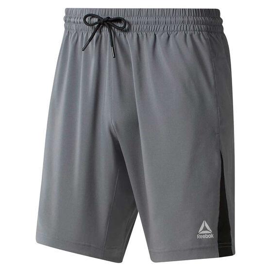 Reebok Mens Elements Woven Shorts, Grey, rebel_hi-res
