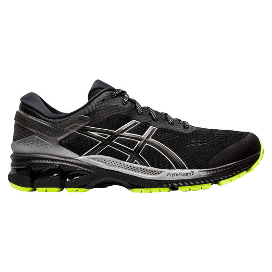 Asics GEL Kayano 26 Liteshow 2.0 Mens Running Shoes Black US 9.5, Black, rebel_hi-res