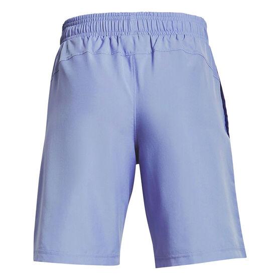 Under Armour Boys Woven Wordmark Shorts, Blue, rebel_hi-res