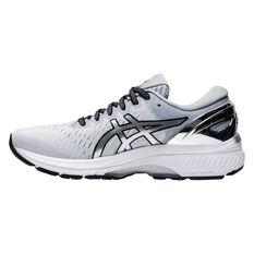 Asics GEL Kayano 27 Platinum Womens Running Shoes Grey/Silver US 6, Grey/Silver, rebel_hi-res