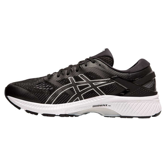 Asics GEL Kayano 26 2E Mens Running Shoes Black / White US 10.5, Black / White, rebel_hi-res