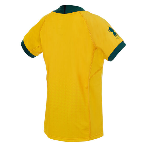 Wallabies 2019 Rugby World Cup Kids Home Jersey Gold 14, Gold, rebel_hi-res