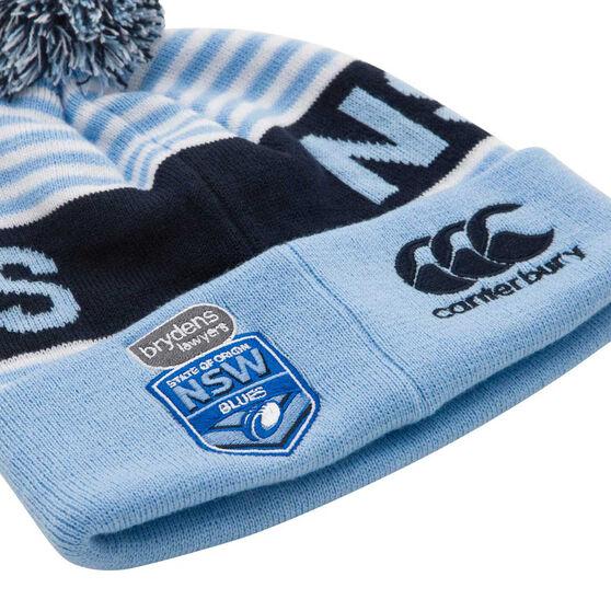 NSW Blues State of Origin 2020 Stripe Pompom Beanie, , rebel_hi-res