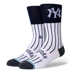 Stance New York Yankees Coloured Socks Black/White M, Black/White, rebel_hi-res