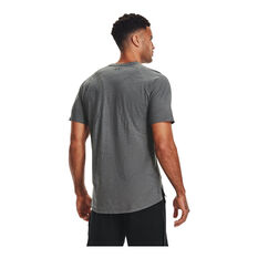 Under Armour Mens Project Rock Charged Cotton Tee Grey S, Grey, rebel_hi-res