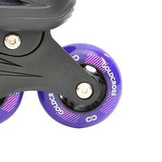 Goldcross GXC165 2 in 1 Inline Skates Purple 3-6, Purple, rebel_hi-res