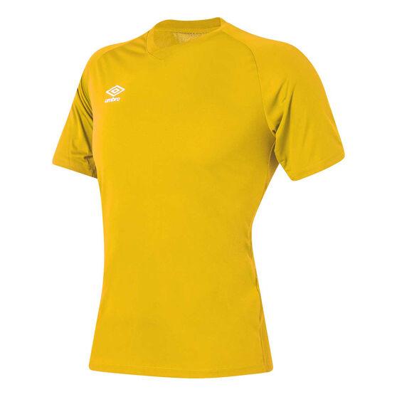 Umbro League Training Knit Jersey, Yellow, rebel_hi-res