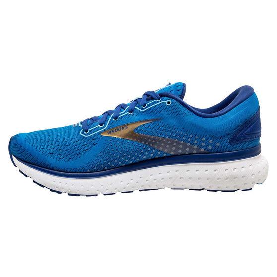 Brooks Glycerin 18 Mens Running Shoes, Blue/Gold, rebel_hi-res
