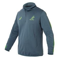 Wallabies 2019 Mens Rugby World Cup Quarter Zip Training Jacket Green S, Green, rebel_hi-res