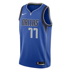 Nike Dallas Mavericks Luka Doncic 2019 Mens Icon Edition Swingman Jersey Blue S, Blue, rebel_hi-res