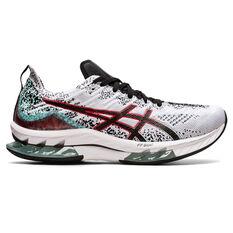 Asics Kinsei Blast Mens Running Shoes White/Black US 8, White/Black, rebel_hi-res