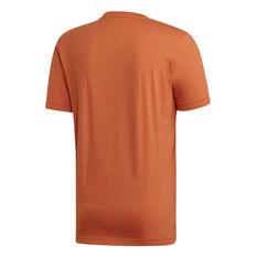 adidas Mens Must Haves Badge of Sport Tee Orange S, Orange, rebel_hi-res
