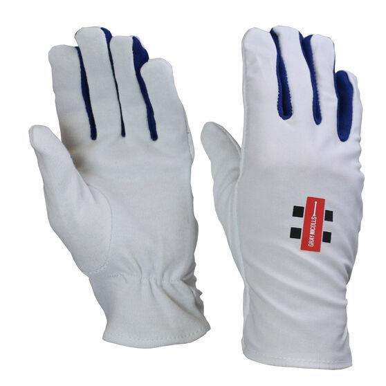 Gray Nicolls Batting Glove Inners, White, rebel_hi-res